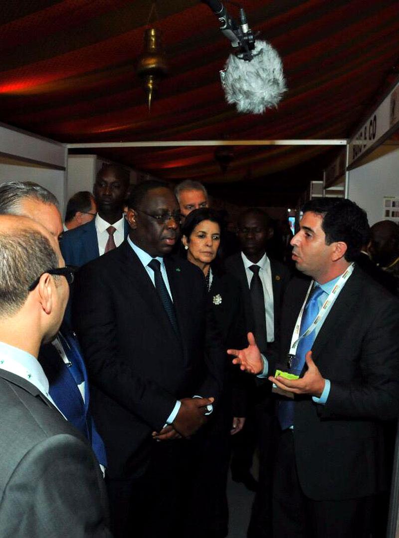 Salim BENMLIH avec Président du Sénégal Macky Sall